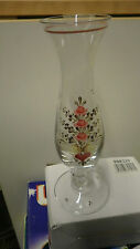 vase Really pretty floral hand painted single bud glass vase 21.5cm high