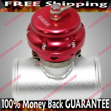 "RED UNIVERSAL 50MM EMUSA Blow off Valve+2.5""Adapter fits Toyota Honda Acura"
