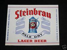 STEINBRAU BEER LABEL MAIER BREWING LOS ANGELES CA