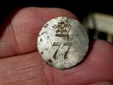 RARE EARLY 77th BRITISH REGIMENT OF FOOT BUTTON OFFICER'S BUTTON