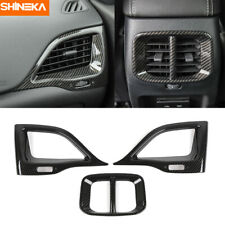 Carbon Fiber Inner Side&Rear Air Vent Outlet Cover Trim For Jeep Cherokee 2019