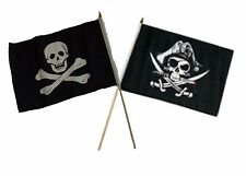 "12x18 12""x18"" Wholesale Combo Pirate No Patch & Deadman's Chest Stick Flag"