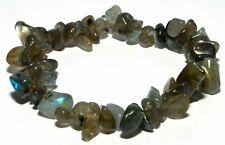 Bracelet baroque en pierres naturelles en labradorite