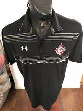 MENS Large Under Armour (Loose Fit) Hockey Collared Golf Shirt Hamilton Bulldogs
