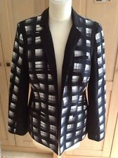 LOVELY M& S LIMITED EDITION BLACK & WHITE CHECKED JACKET UK SIZE 8 BNWT RRP £59