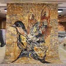 YILONG 8'x10' Handmade Wool Rug Contemporary hummingbird Home Indoor Carpet