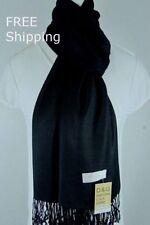 NEW DG Pashmina Scarf Shawl Wrap Solid Black cashmere silk Free Ship
