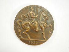 Bronze medal of the Centennial Battle of Pichincha Ecuador, L. C1822-1922 80 mm