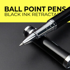 Brand New Metal Luxury Black ink Retractable Ball Point Pen Limited Edition