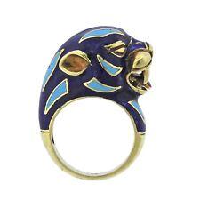 Frascarolo Enamel 18k Gold Animal Motif Ring