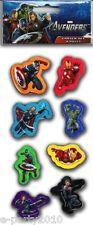 AVENGERS ERASERS (8) ~ Birthday Party School Supplies Favors Iron Man Hulk Thor