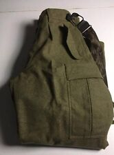 SPORTRA ARNSTORF Green Wool Hunting Military Cargo Pants Men's Size 30 x 30