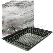 UNIVERSAL Large Oven Cooker Grill Pan Tray + Fat Controller Grease Absorber Pads