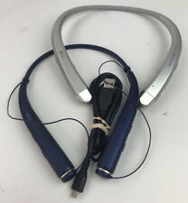 New listing Lot Of 2 Genuine Lg Tone Infinim Hbs-910/780 Bluetooth Wireless Headset Sil Blue