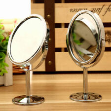 Round Rotary Table Mirror Double Sided Magnifying Equisite Makeup Desk Mirror
