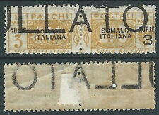 1923 SOMALIA PACCHI POSTALI 3 R DEMONETIZZATO MH * - D6