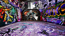 Jedi Alley  A0 size Star Wars canvas print movie film  By andy baker not banksy