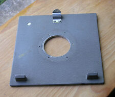 genuine early  Sinar Norma & F  P fit  lens board panel compur 1 42mm hole used