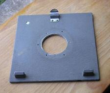 Genuine temprano Sinar norma & F P Ajuste Panel de placa de Lente Compur agujero de 1 42 Mm Usado