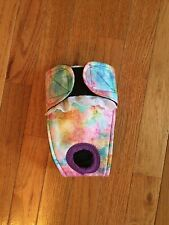 Female dog diaper-panties-QUILTED-Washable- RAINBOW WATERCOLORS by angelpuppi