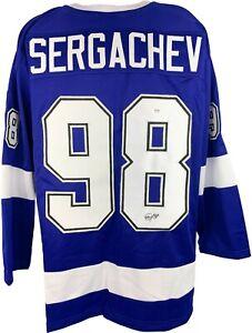 Mikhail Sergachev signed jersey autographed NHL Tampa Bay Lightning PSA COA