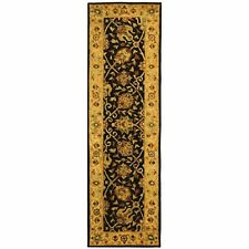 Antiquity Hand-Tufted BLACK Wool Rug 2' 3 x 8' Runner