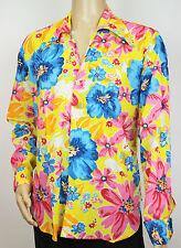 Vtg 70s Style Ibiza Hippie Festival Fresh Prince Crazy Paisley Floral Men Shirt