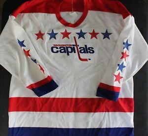 1990's CCM Maska Air Knit White Washington Capitals Mens NHL Jersey Sz. XL