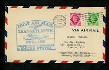 US Postal History Airmail FAM 18 Southampton Great Britain Botwood NL Canada 39