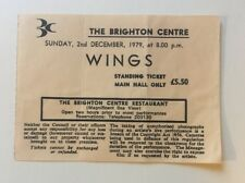 Beatles Paul McCartney Wings 1979 Concert Ticket Brighton Rare