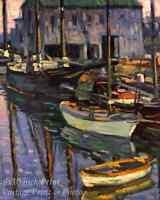 Rockport at Sunrise by Charles S Kaelin - Art Boats Harbor Water 8x10 Print 0976