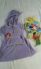 Disney Store Girls Terry Cloth Mermaid Cover up Size 2/3 & Minnie Swimsuit 2 Gc