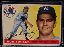 1955 Topps BOB TURLEY #38 Baseball Card-VG/EX Condition-NEW YORK YANKEES