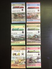 TRAINS Railways ST LUCIA Thematic STAMP Collection UNMOUNTED MINT