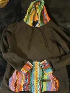 Hudson X Coogi Longline Hoodie Sweater (Medium)