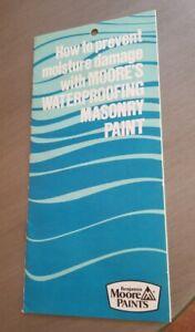 Vintage 1978 Brochure Benjamin Moore Paints Waterproofing Masonry Painter Litho