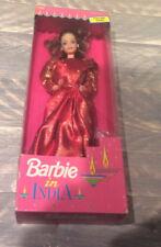 Leo Mattel Barbie doll in India NRFB Indian red sari