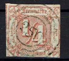 Old Germany Thurn And Taxis Minr 13 Postmarked Stempelnr 250 Weida
