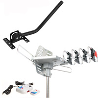 Outdoor TV Antenna Motorized HDTV Amplified 170 Miles with J Pole Mount Base