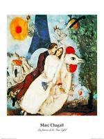 Marc Chagall Les fiances Poster Kunstdruck Bild 50x40cm