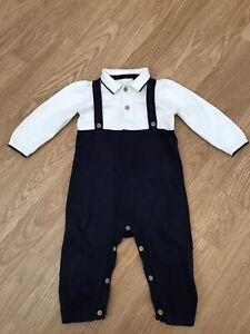 Turtle 18 Months Boys Age Newborn Blue Stripe BNWOT TU Romper Suit// Outfit