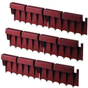 Suncast 10 Foot Interlocking Brick Resin Border Edging, 12' Sections (30 Pack)