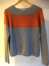 Baum Und Pferdgarten dove grey lambswool blend jumper, orange stripe L 14 approx