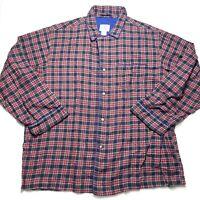 VINTAGE Gap  100% Cotton Plaid Pajama Sleep Button Shirt  Mens XL