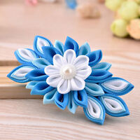 New Women Girls Fabric Flower Hair Clips Hairpins