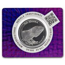 Scottsdale Mint Fiji Iguana 2015 1 oz .999 Silver Coin (in Certi-Lock packaging)