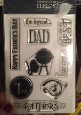 Happy Dad's Day Clear Stamp Photopolymer - Grill etc