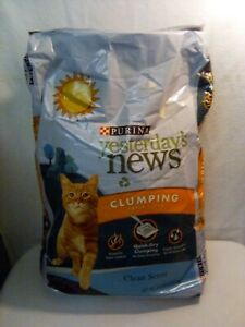 Purina Yesterday's News Non Clumping Paper Cat Litter Softer Texture Unscente...