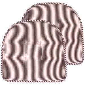 Pinstripe U Shaped Memory Foam Chair Pad 2, 4, 6 or 12 Pack