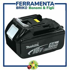 BATTERIA AL LITIO 18V 5AH MAKITA BL1850B ORIGINALE PER TRAPANO SMERIGLIATRICE